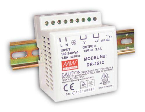 DR-45-12 Zdroj DIN 12VDC/3,5A