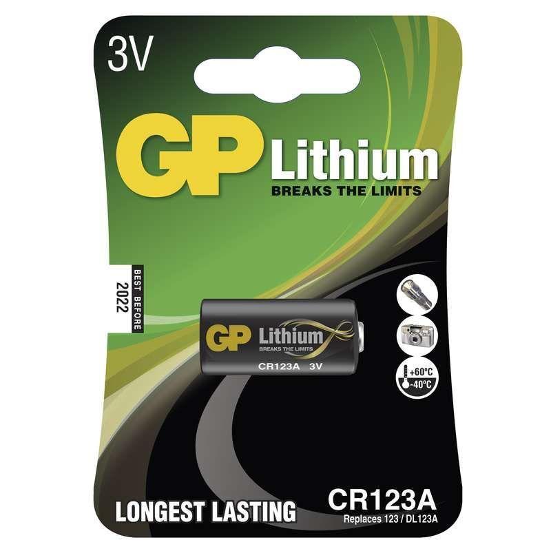 GP CR123A, blistr