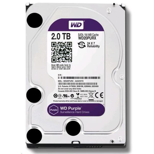 HDD 2TB WD20PURX SATA/600 64MB
