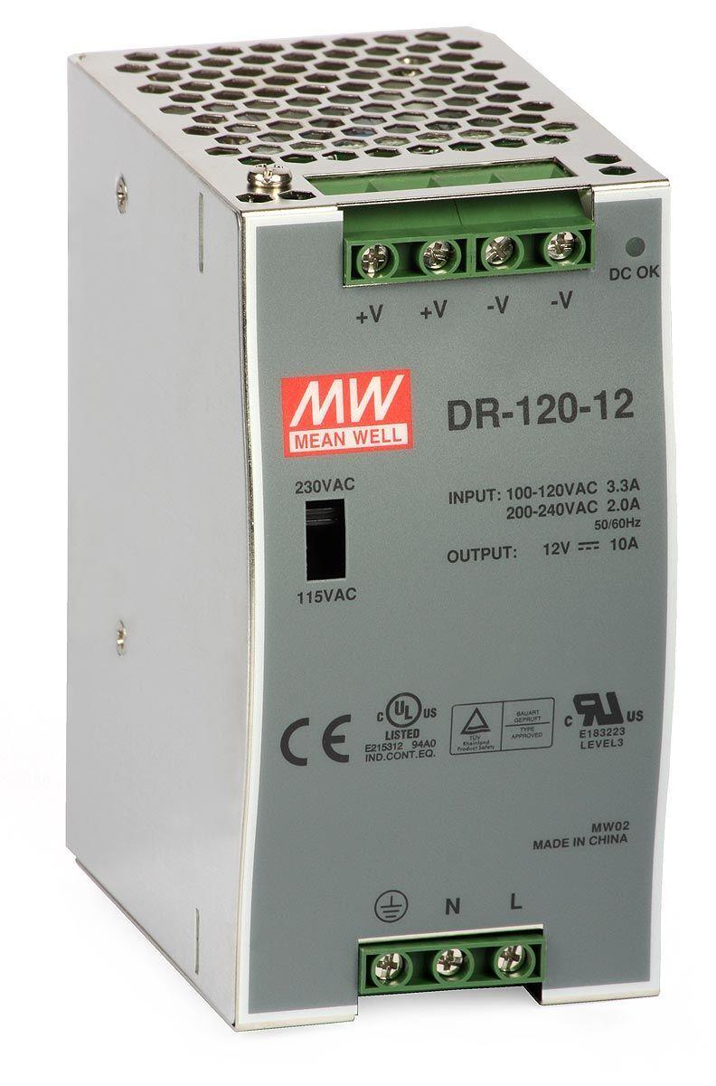 DR-120-12 Zdroj DIN 12VDC/10A