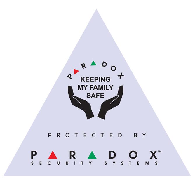 Paradox Protected nálepka Bílá